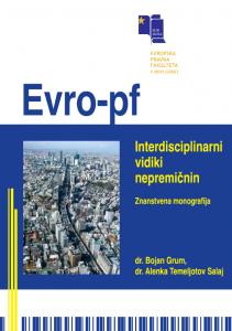 Interdisciplinarni vidiki nepremičnin – znanstvena monografija - naslovnica
