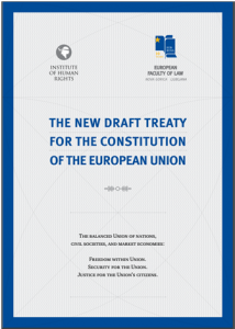 The new draft Treaty for the Constitution of the European Union - naslovnica